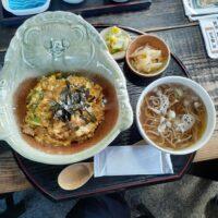 【滋賀県】どんぶり分福(近江鶏 親子丼 + ミニそば)