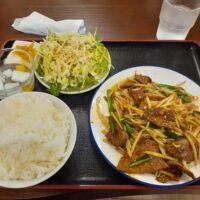 【上田市】中華料理 夢園(ニラレバ定食+ラーメン)