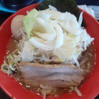 【佐久市】麺's BLAND 文蔵BLACK(二郎系らーめん 味玉付き)