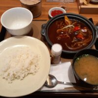 【塩尻市】やよい軒 塩尻広丘店(牛すじと野菜のカレー定食)